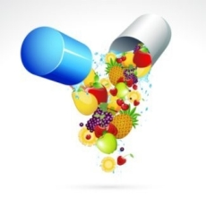 Vitamine capsule graphic